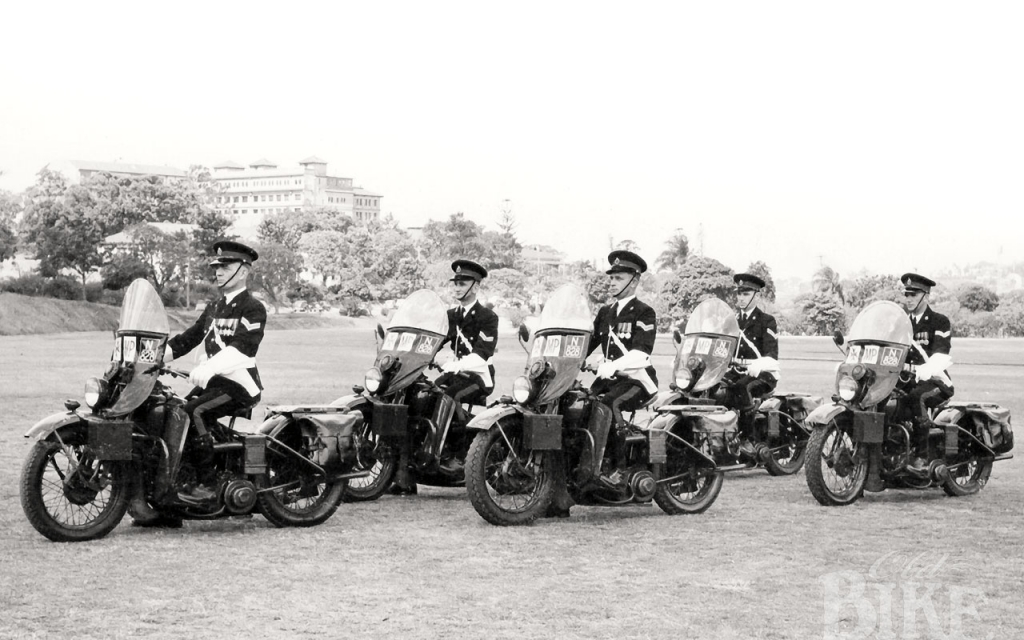 Military Police Motorcycles: On active service